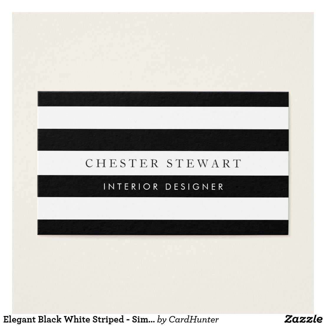 Interior designer business cards personalised business cards elegant black white striped simple minimalist reheart Images