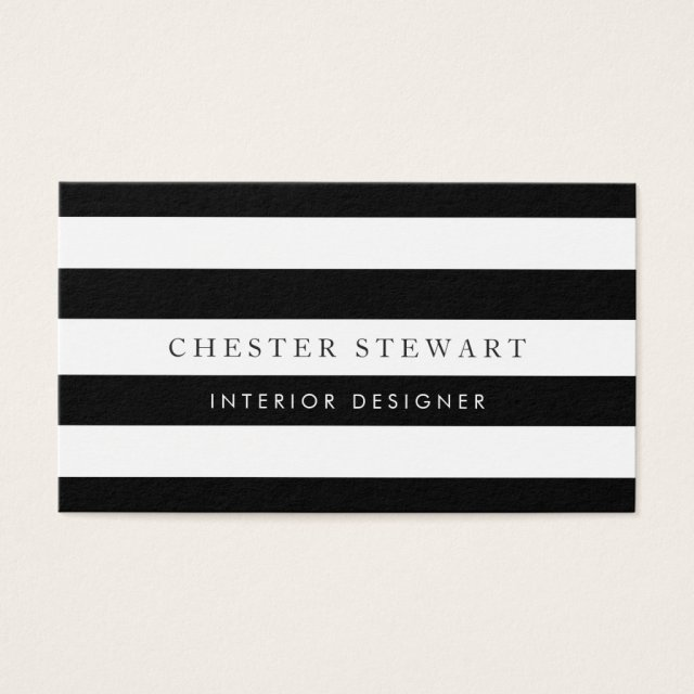 Elegant Black White Striped - Simple Minimalist