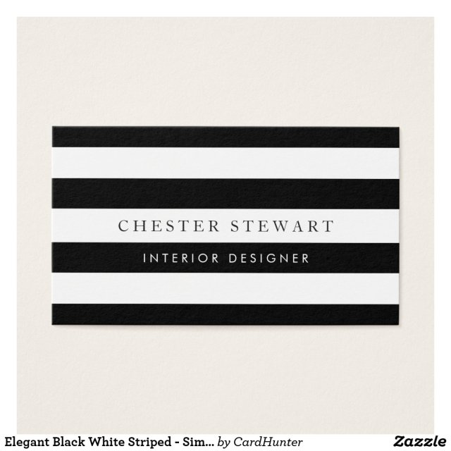 Elegant Black White Striped - Simple Minimalist