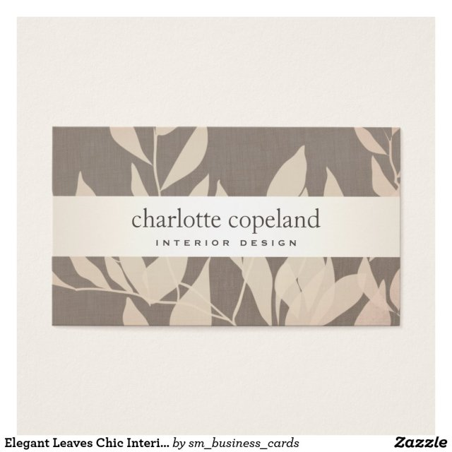 Elegant Leaves Chic Interior Design Taupe Nature
