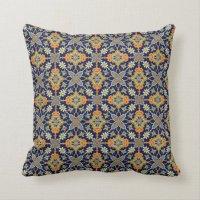 Elegant Navy Blue Orange American MoJo Pillow   Zazzle.co.uk
