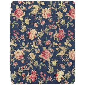 Elegant Vintage Floral Rose iPad Cover
