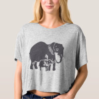 Elephants Crop Top