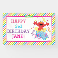 Elmo Girl's Birthday Banner