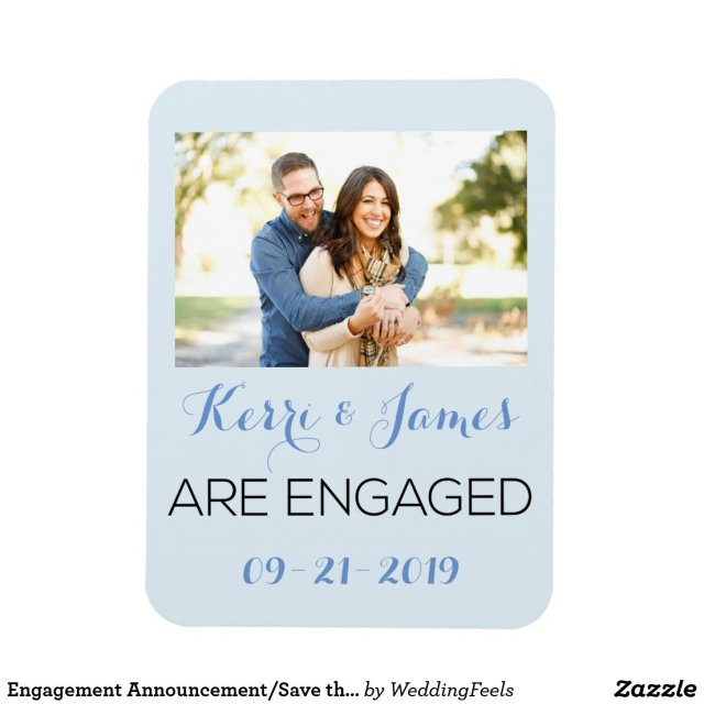 Engagement Announcement Photo Magnet