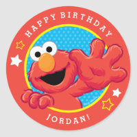 Extreme Elmo Birthday Classic Round Sticker