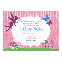 Fairy Garden Birthday Invitation