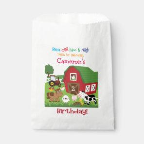 Farm Animal Birthday Goody/Favour Bag