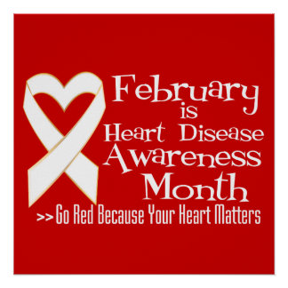 Heart Disease Awareness Posters Zazzlecouk