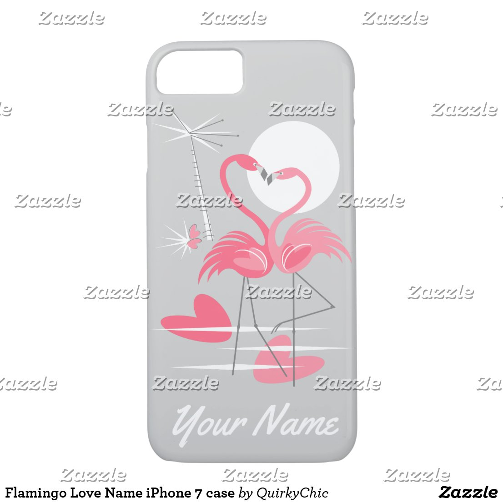 Flamingo Love Name iPhone 7 case