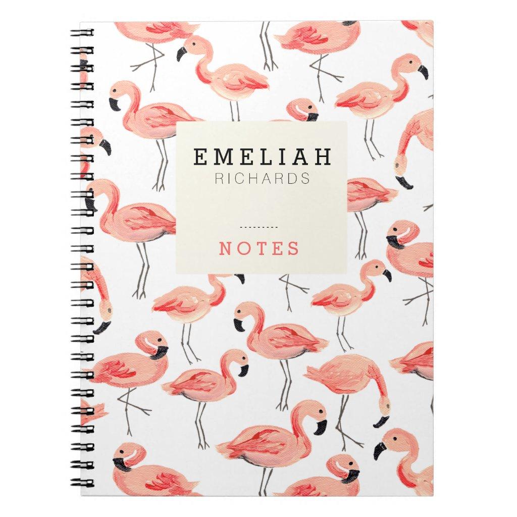 Flamingo Custom Notebook