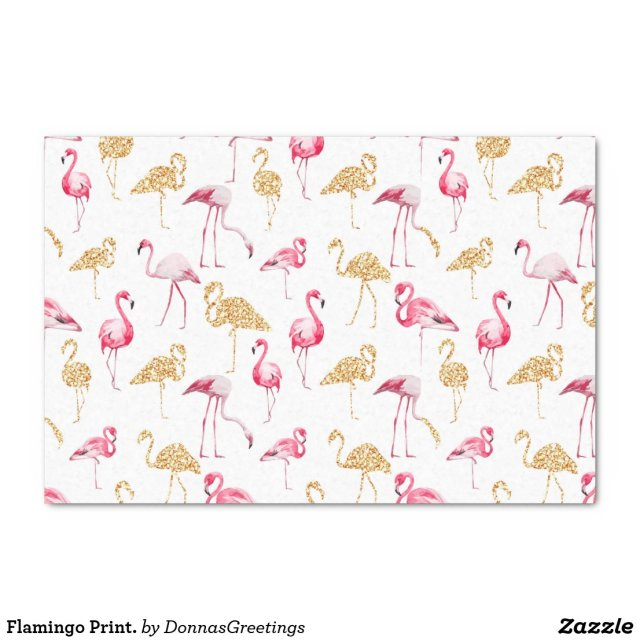 Flamingo Print. Tissue Paper
