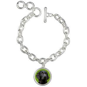 Flat Coated Retriever dog, black beautiful photo Bracelet
