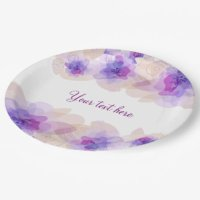 Floral Paper Plates & Floral Disposable Plate Designs ...
