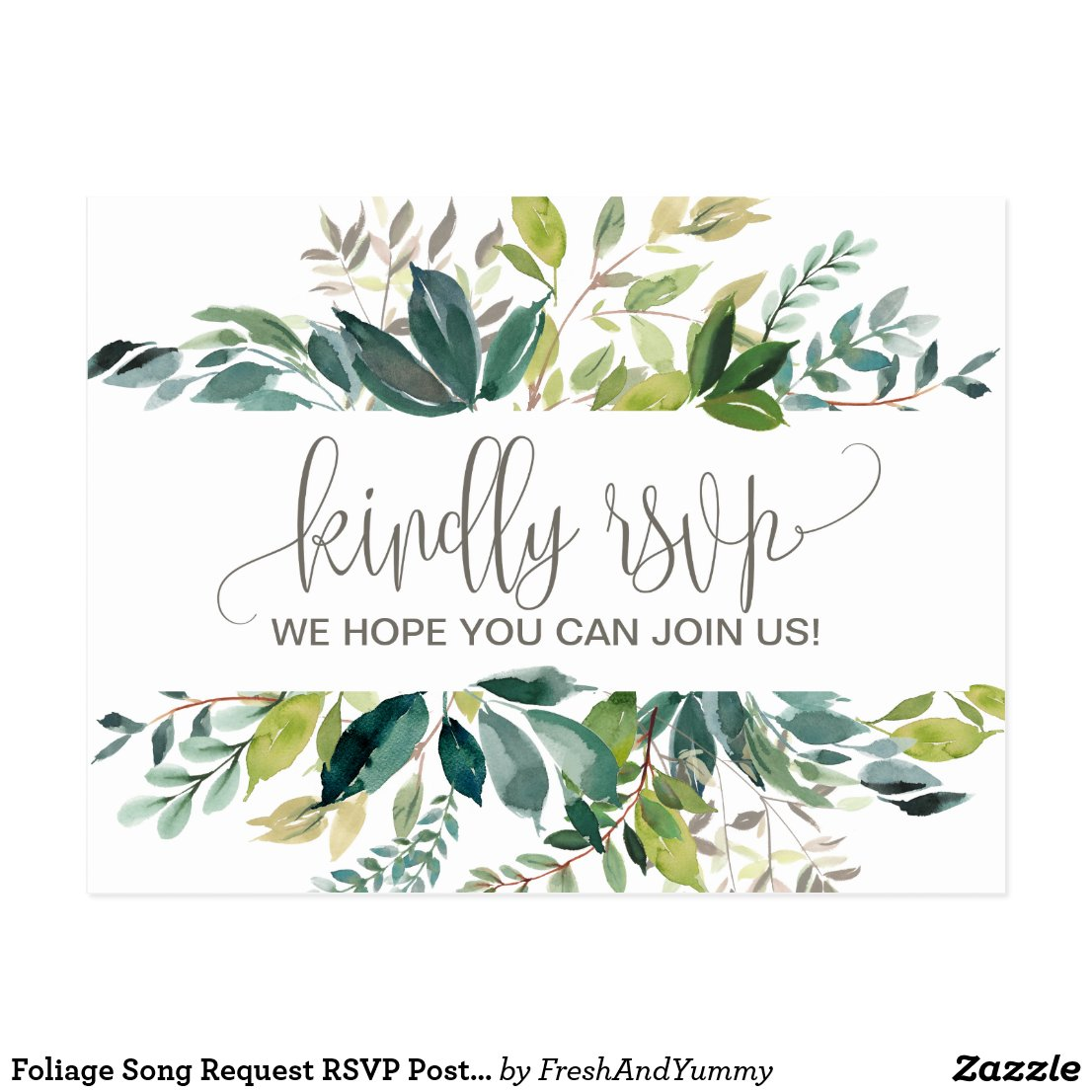 Foliage Song Request RSVP