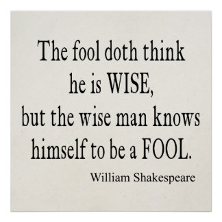 Shakespeare Quotes About Fools. QuotesGram