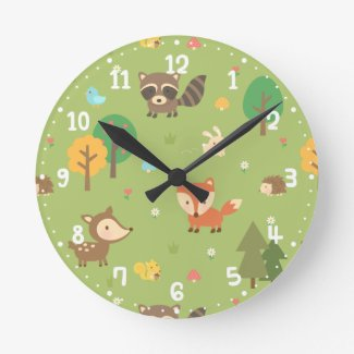 Forest Woodland Animal Pattern Kids Room Decor