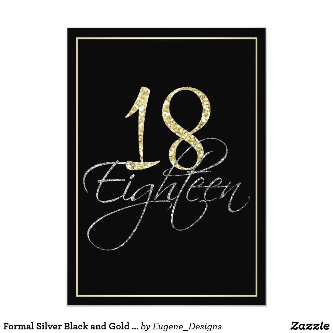Formal Silver Black and Gold 18th Birthday Party