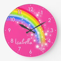 Rainbow name clock