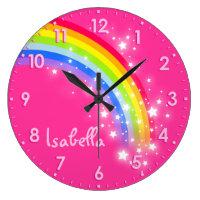 Rainbow name clock