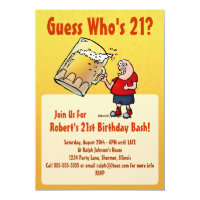 Funny 21st Birthday Party Invitation