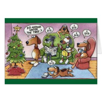 Funny Christmas Dog Card