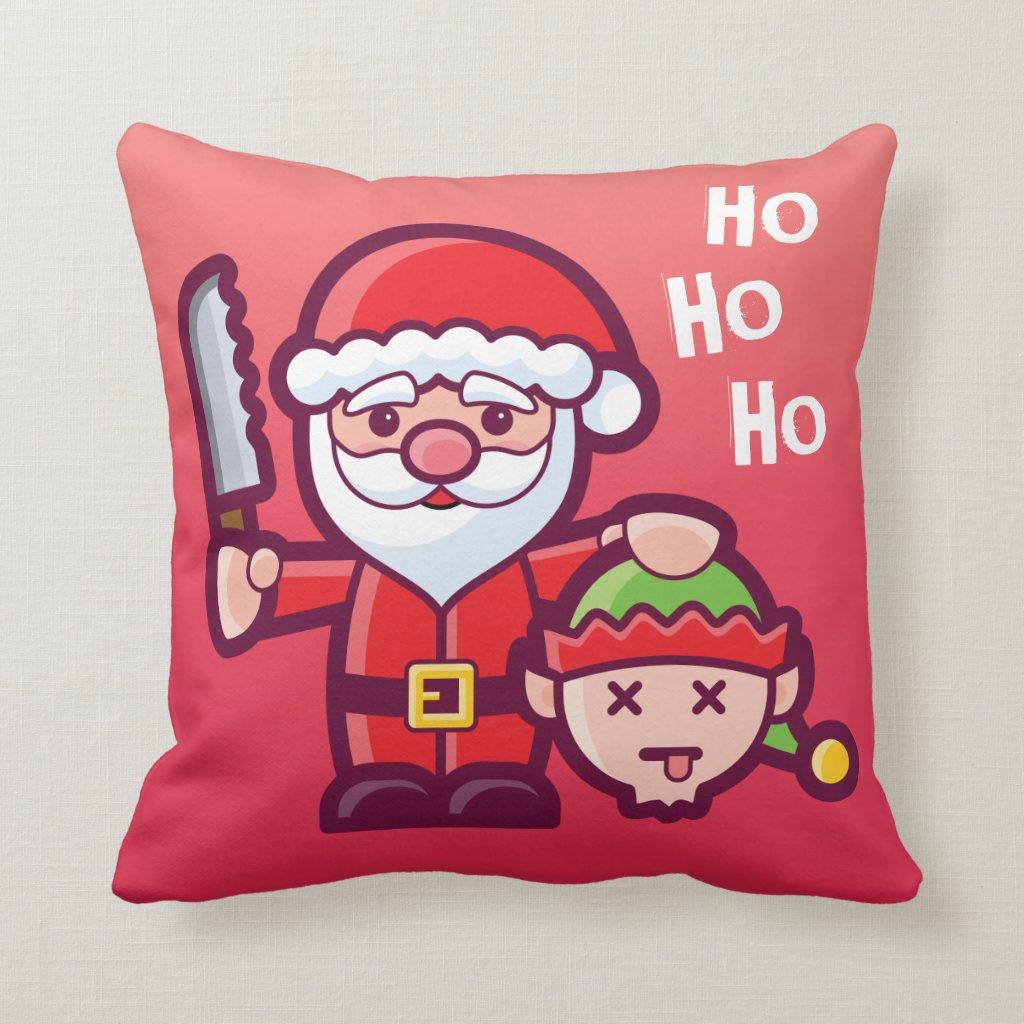 Funny Christmas Santa Cushion