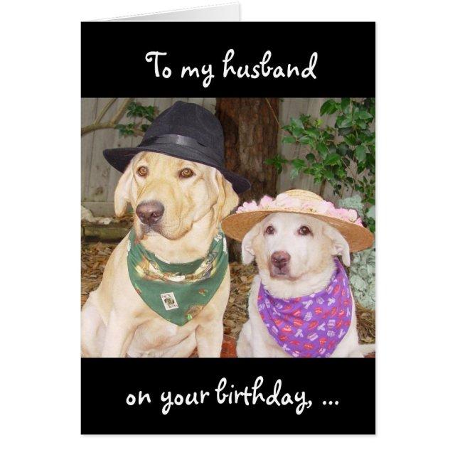 Funny Husband Birthday Card