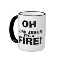 Funny Meme Quotes It's a FIRE! Ringer Coffee Mug