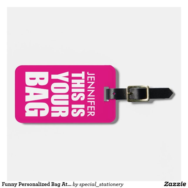 Personalised Funny Luggage Tag