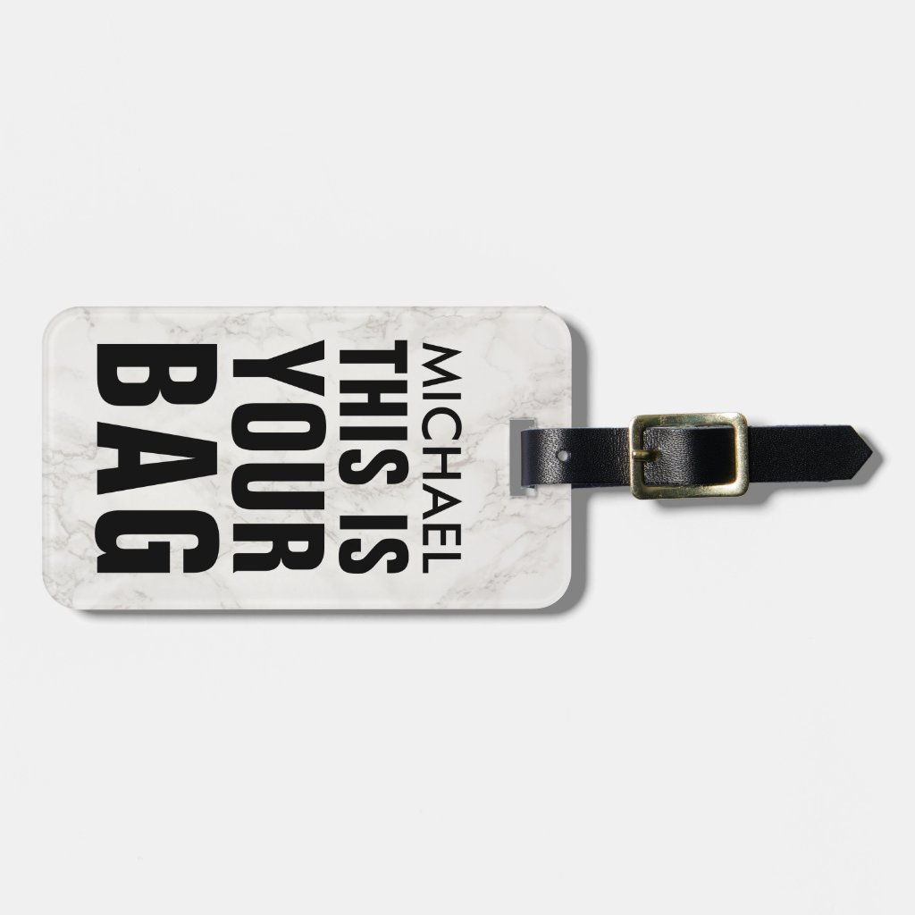 FUNNY PERSONALIZED LUGGAGE TAG