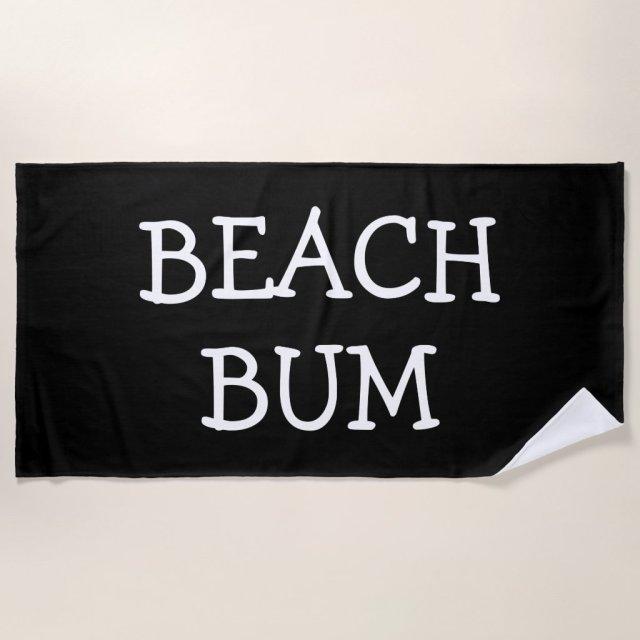 Funny Simple Guys Beach Towel