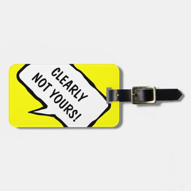Funny travel luggage tag