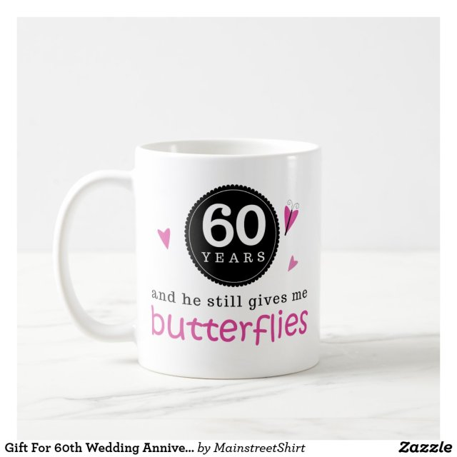 Gift For 60th Wedding Anniversary Butterfly