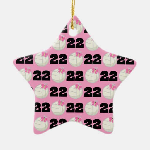 Girls Volleyball Player Uniform Number 22 Double Sided