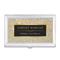 Girly Elegant Gold Glitter Sparkles Pattern Case For Business Cards