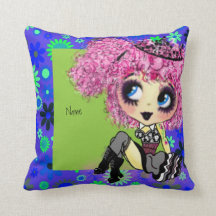 Girly Goth Girl Gifts PinkyP cartoon customisable