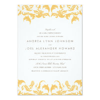 Glamorous Gold Wedding Invitation