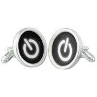 Glowing Power On Symbol Funny Cufflinks