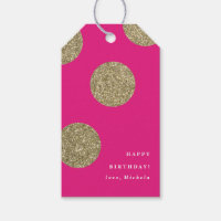 Gold glitter | Gift tags Pack of gift tags