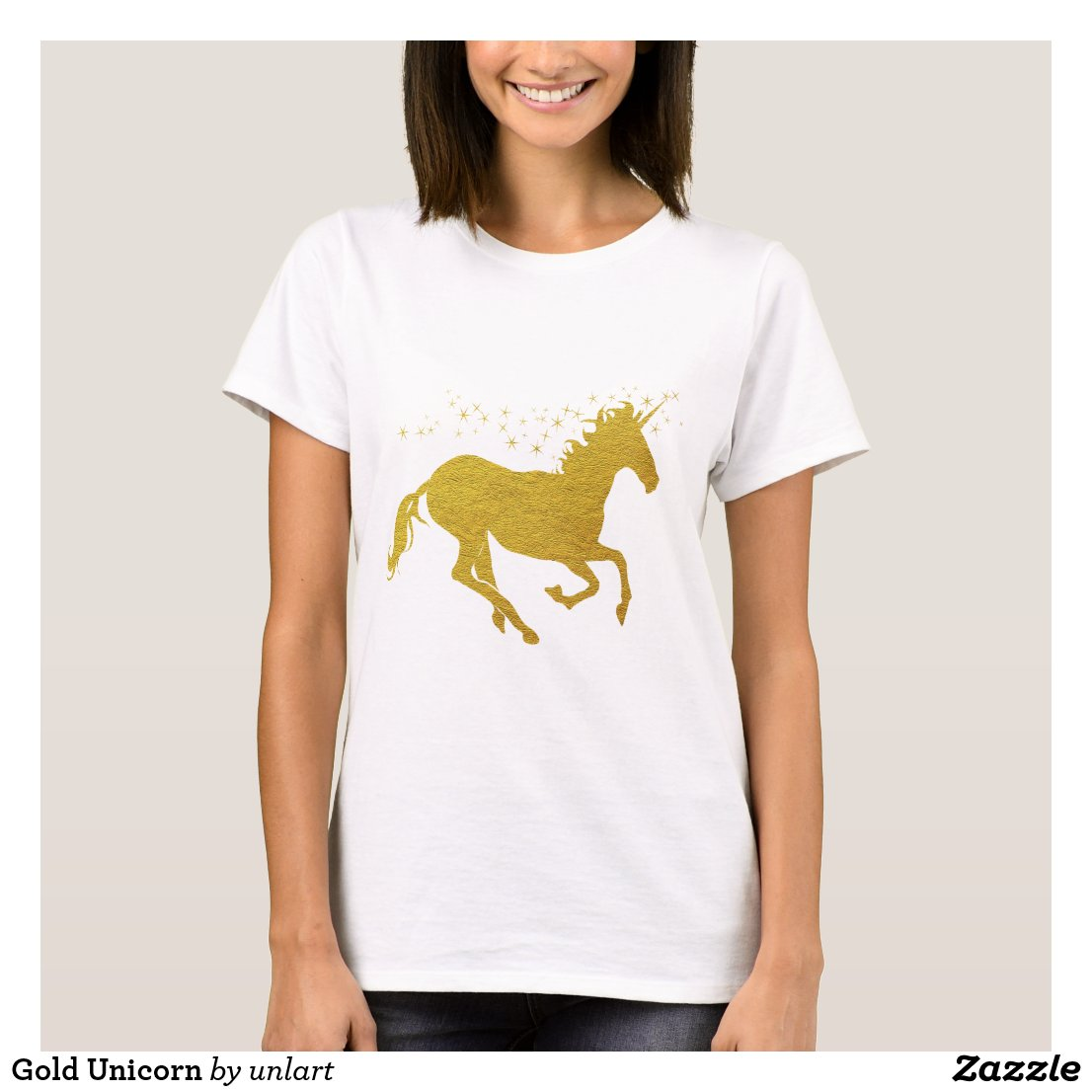 Gold Unicorn T-Shirt