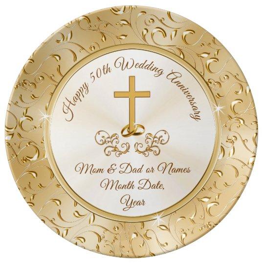 golden christian cross 50th