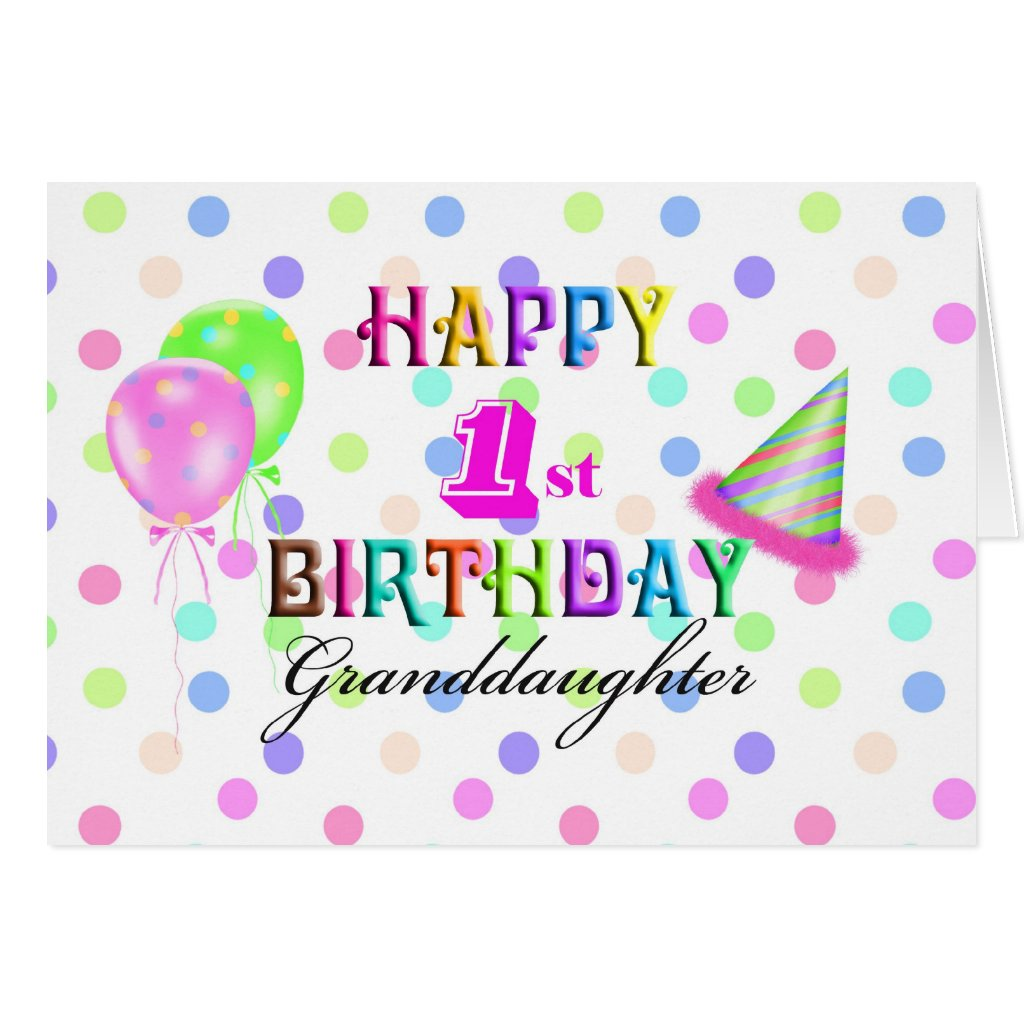 Granddaughter 1st Birthday Card