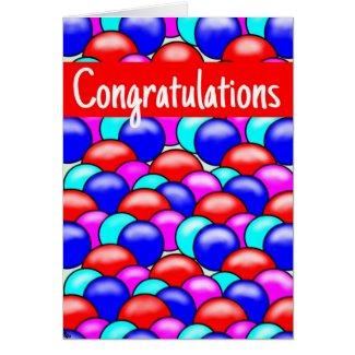 Greeting Card balloon design- Congratulations