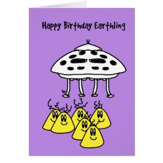 Greeting card - Happy Birthday Earthling