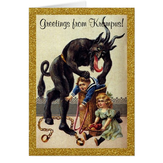 Greetings From Krampus Holiday Greeting Card Zazzle