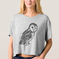 Barn Owl Crop Top