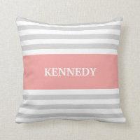 Stripes Monogram Pillow