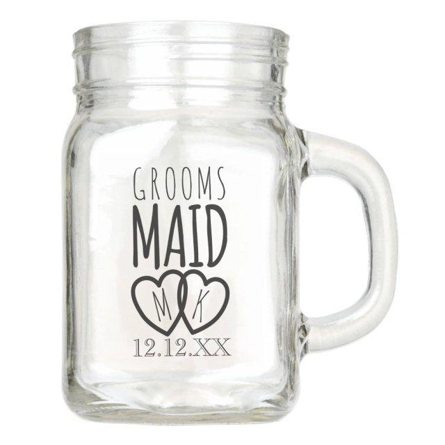 Groomsmaid Wedding Mason Jar