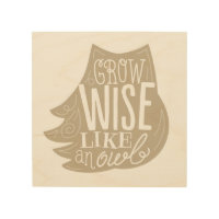 Grow Wise Like an Owl Wood Wall Art